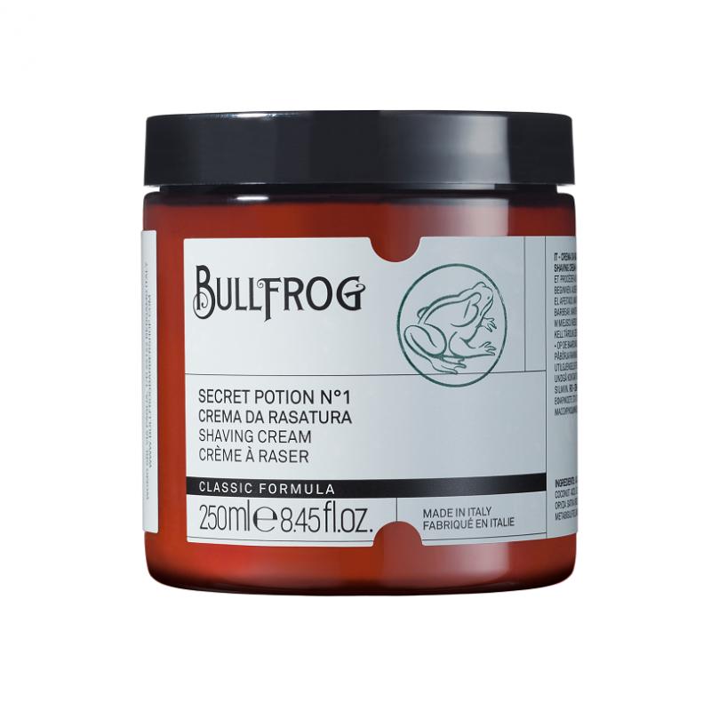 Bullfrog Crema da rasatura in vaso 250 ml 40,00€ Barberia